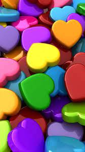 Colorful Heart Android Wallpapers ...