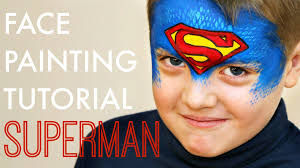 Face Painting Superheroes Design Fast And Easy Superman Face Painting Design That Boys Will