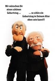 Waldorf Statler Muppets Wir Wünschen Dir Einen Schönen Geburtstag Lustig Spruch Blechschild