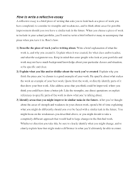relective essay how to write a reflective essay self reflection essay sample  how to