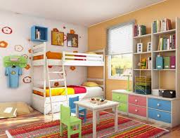 Enchanting Colorful Sensation For A Lively Taste With White Double Bunk  Beds Boys Bedroom Decorating Ideas