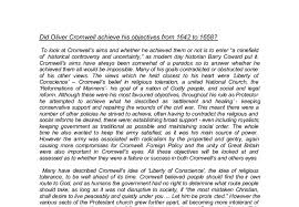 did oliver cromwell achieve his objectives from to a  document image preview