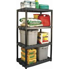 plano 24 in x 36 in 4 shelf heavy duty black and