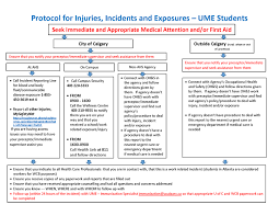 Protocol For Injuries Incidents And Exposures Ume Student