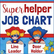 Classroom Jobs Chart Superhero Classroom Job Chart