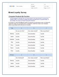 Questionnaire Templates For Microsoft Word
