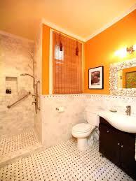 Wonderful Orange Bathroom Decorating Ideas Intended For Decor Amazing Orange Bathroom Decorating Ideas