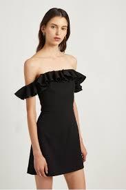 French Connection Whisper Light Off The Shoulder Dress Whisper Light Ruffle Dress