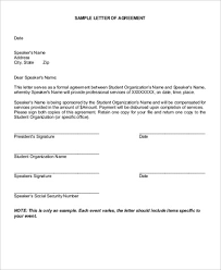Example Of An Agreement Sample Agreement Letter 10 Examples In Word Pdf