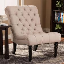 fabric accent chairs. Modren Fabric Baxton Studio Caelie Beige Fabric Accent Chair Throughout Chairs A