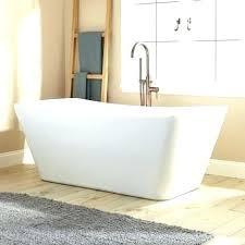 flat bottom tub freestanding bathtubs bathtubs the home depot freestanding acrylic tub in acrylic center drain