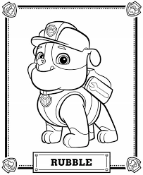Paw Patrol Coloring Pages In 2019 Rhopers Bday Rubble Paw