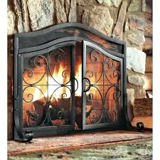 rustic fireplace screens how to choose the right with plan 19