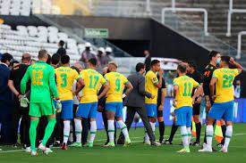 Chaos as Brazil v Argentina is halted ...