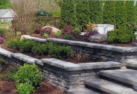 Small Picture garden retaining wall design backyard landscape ideas flower beds