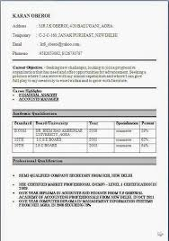 Best Resume Format For B Com Fresher March 2018 Latest Jobs In