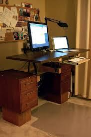 home office standing desk. diy convertible standing desk home office