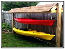 outdoor kayak rack outdoor kayak storage ideas shed outdoor kayak rack