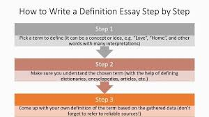 Definition Essays Samples 3 Steps To Define 3 Terms In A Definition Essay