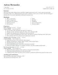 Sample Resume For Office Manager Resume Sample Source