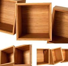 custom wood shelves nyc twisted wooden boxes work as wall bookcases custom wood shelves