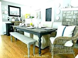 bench style dining room tables farm living table with