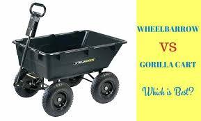 gorilla garden cart a black wheelbarrow with title wheelbarrow vs gorilla cart which is best gorilla gorilla garden cart