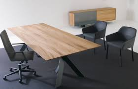 stunning wood chrome conference table  ambience doré
