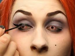 enhancing your eyes for your glam dark fairy halloween costume