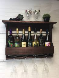 wine rack wine rack wooden shelf wine rack rustic wine glass rack country decor housewarming gift wedding gift wine storage