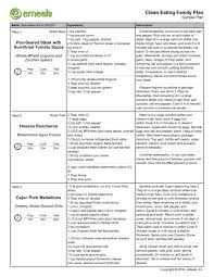 Sample Plan EMeals Plan Sample 8