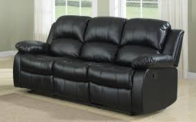 leather reclining sofas. Delighful Leather Bob Classic Bonded Leather Recliner Sofa In Black On Reclining Sofas