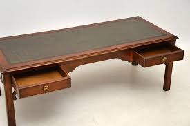 leather top coffee table 2018 antique georgian style mahogany leather top coffee table