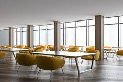 stylish office. Stylish Office Waiting Room Or Class Corner Yellow Royalty Free Stock Images