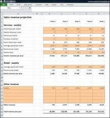 Salon Business Plan Revenue Projection Salon Business Plan