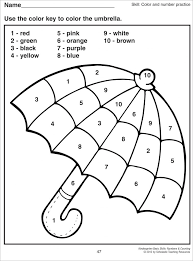 Small Picture Color By Number Worksheets Preschool 3793 plaaco