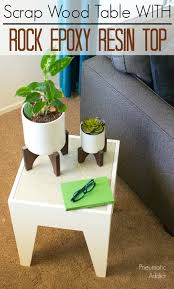 how to make a modern end table with a rock resin top from s wood