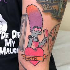 Marge Simpson Tattoo The Simpsons Tattoos Simpsons Tattoo