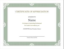 Employee Certificate Of Appreciation Certificate Of Recognition For Administrative Professional