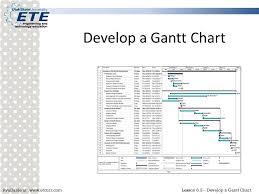 Gantt Chart Lesson Develop A Gantt Chart Ppt Video Online Download