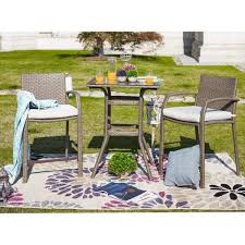 patio festival 3 piece wicker outdoor