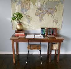 chekered desk revamp (via quitequaint)
