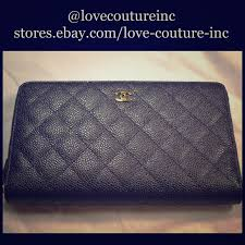 chanel zip wallet. chanel classic black caviar quilted zip wallet chanel