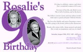 Birthday Invitations 90th Party Templates Danielmelo Info
