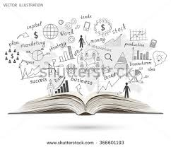 creative drawing world map graphs and charts business strategy plan concept idea on an open