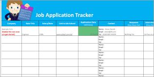 Job Tracker Template Job Application Tracker Spreadsheet Free Download