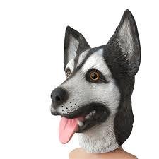 Halloween Siberian Husky Dog Latex Mask ...
