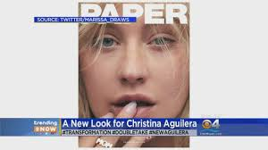 trending christina aguilera decided to go makeup free for this magazine cover