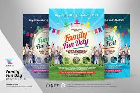 Fun Brochure Templates Family Fun Day Print Bundle Free Psd Fonts Granstander