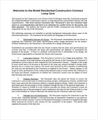Sample Construction Contract 8 Construction Contract Templates Free Sample Example Format